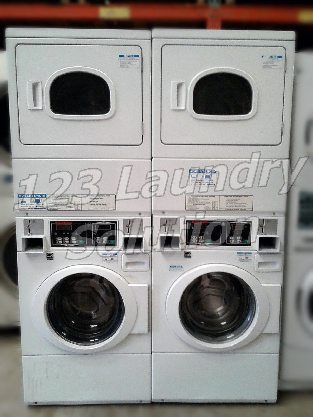 Coin Laundry Maytag Front Load Washer Coin Op Double Load 120V MHN30PDBWW 0 Used