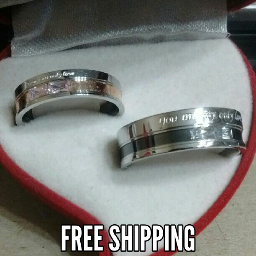 2pc My Only Love Matching Couples Unisex Ring Set Free Shipping