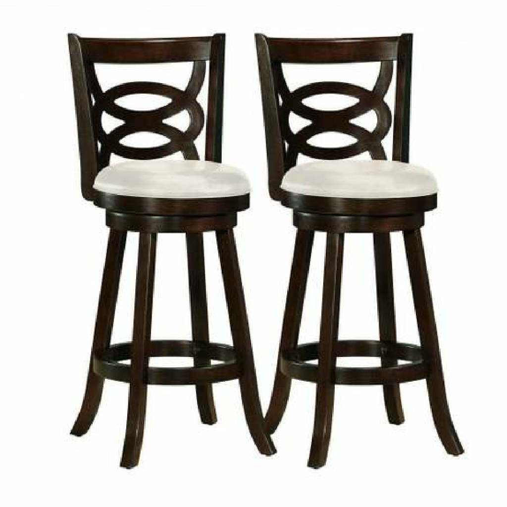 Barstool with Leatherette Seat