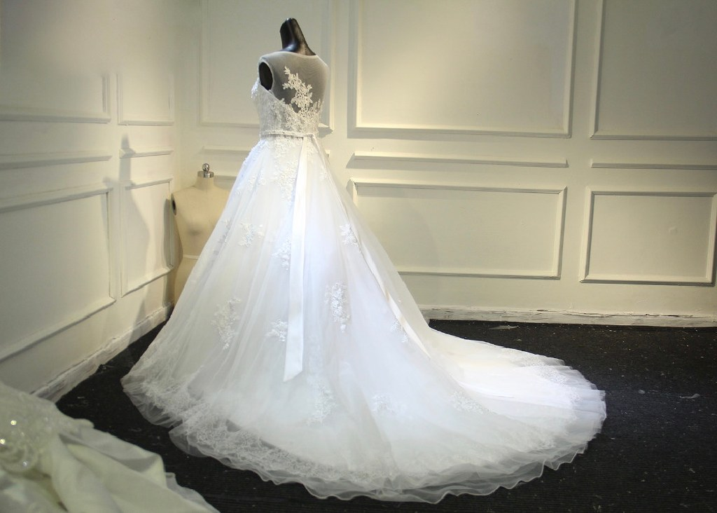 Alice's A Line Lace/Tulle Wedding Gown