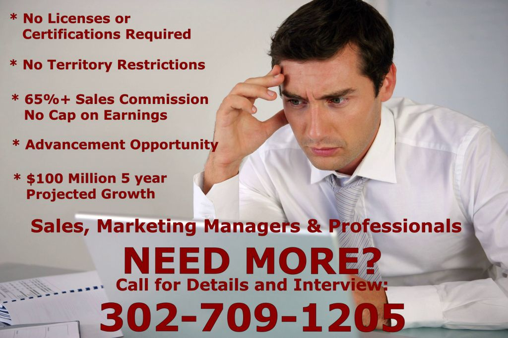 Sales and Marketing Manager Team Positions!!! (PA-DE-NJ) Regions)