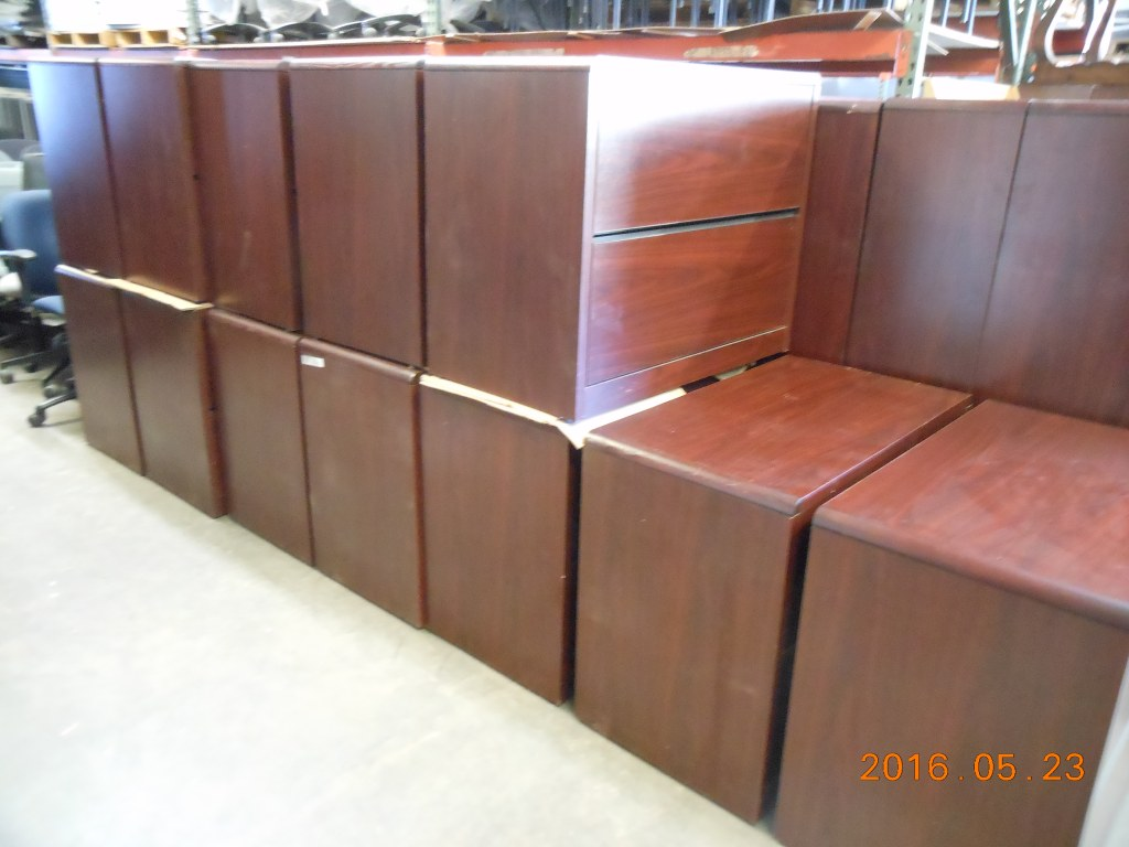 Mahogany lateral files