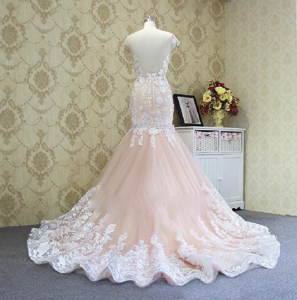 Monica's Mermaid Lace Open Back Wedding Dress