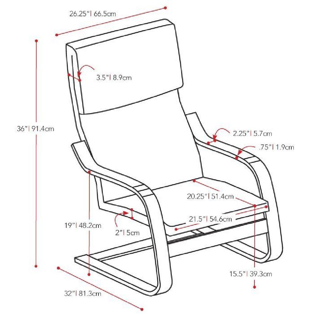 Black High Back Armchair