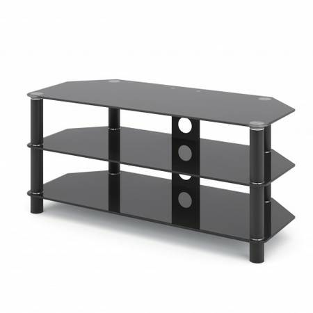 Glass TV/Component Stand - Black