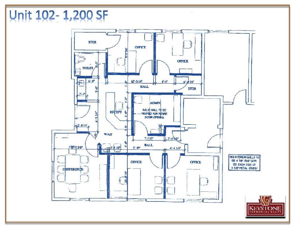 Wallen Office Building-Unit 201-2,625 SF For Lease