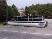 """Sell 1995 San Pan Pontoon *22' Long w/ HUGE 23"""" Tubes * Build-a-Boat* NO MOTOR motorcycle in Coldwater, Michigan, United States, for US $5,500.00"""
