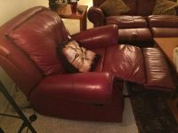 $400, Love seat, recliner, lift top coffee table and end tabkes