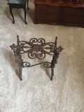 Iron side table or garden seat