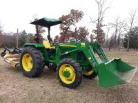 JOHN DEERE TRACTOR WITH LOADER