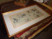 """Signed """"The Hunt"""" Oriental Painting"""