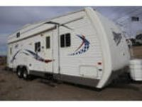 Travel trailer toyhauler with seperate garage