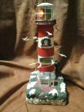 Hilton Head animated Lighthouse with moving birds, lights and sound. 13 inches tall. Meet in Angleton.