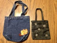 Blue Jeans Purse and Black cloth purse