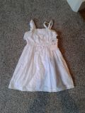 Girls size 6 eyelet dress white new with tags