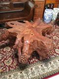 Oak root wood coffee table