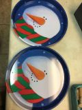 2 metal serving trays from The container store