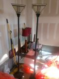 Tall Lamps with stained glass top