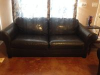 $500, Faux Leather Couch and Loveseat