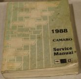 Purchase 1988 Chevy Camaro Factory Service Shop Manual Genuine from Dealership motorcycle in Westmoreland, Tennessee, United States
