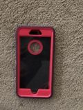 EEUC maroon and hot pink iPhone 6S Plus case