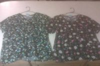 Womens scrub tops size XL