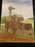 Hand painted barn picture