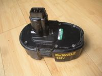 used dw9099 18v battery pack, dewalt power tools drill/saw. charge does not last