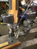 Dual solex carburators with linkage