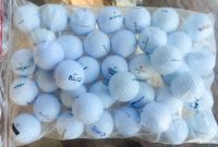 100 assorted various brand names used golf balls near mint condition