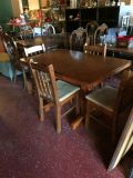 Solid Wood Kitchen Table W/ Four Chairs