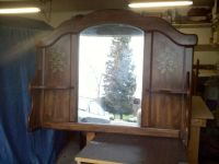 Mirror With Shelves And Headboard
