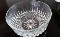"Cut glass bowl 7"" d x 4"" h, like new"
