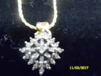 "24"" diamond necklace"