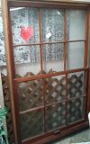 Vintage Double Window Complete in Solid Wood Frame