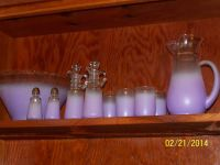 Anchor Hocking purple set