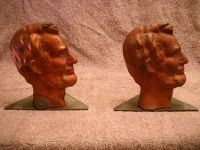 LINCOLN PURE SOLID COPPER BOOK ENDS 5 LBS.ONE & ONLY RARE