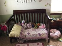 Good condition crib and changing table set