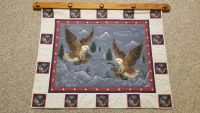 Eagle Quilt with Wooden Hanger