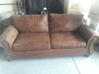 Couch made of suade leather
