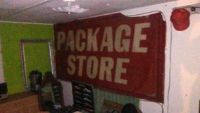 vintage Package Store sign