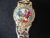 Classic collection deleware pewter usa state collector souvenir spoon travel