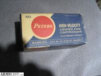 For Sale: Vintage Peters 25-20 Winchester Ammo