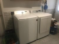 Samsung large capacity washer with electric dryer