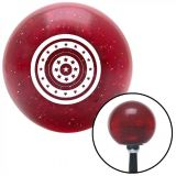 Purchase White Star Target Red Metal Flake Shift Knob with 16mm x 1.5 Insert amc parts motorcycle in Portland, Oregon, United States, for US $29.97
