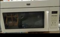 Maytag over stove white microwave