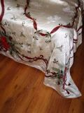110in x 57in rectangular Christmas tablecloth