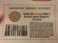 Earth s Best Organic Coupon (x1)