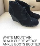 White Mountain Black Suede Boots
