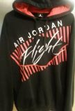 Nike Air Jordan Flight black fleece red white embroidered jumpman logo hoodie